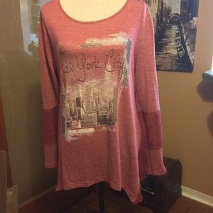 C est 1946 New York City long sweater lace bling